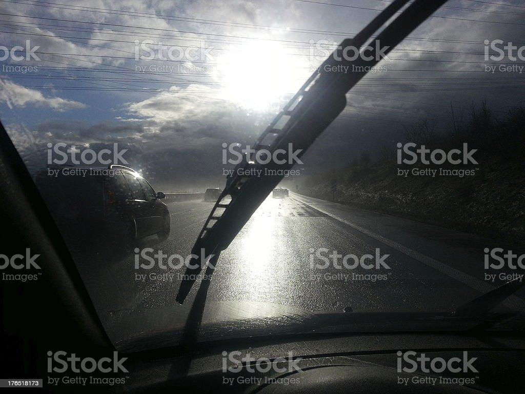 Autobahn stock photo