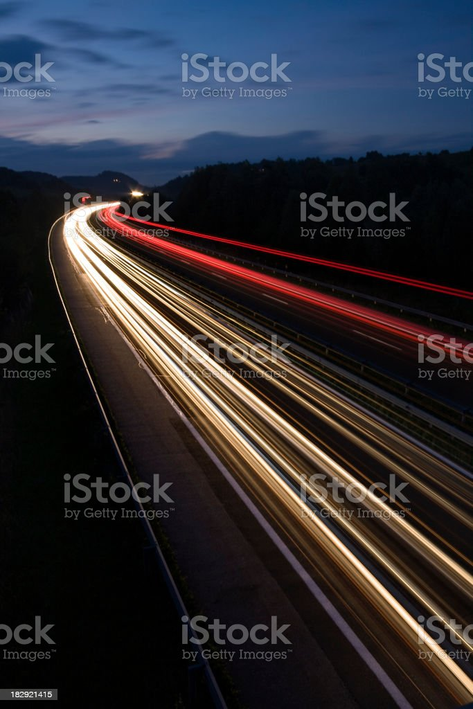 Autobahn royalty-free stock photo