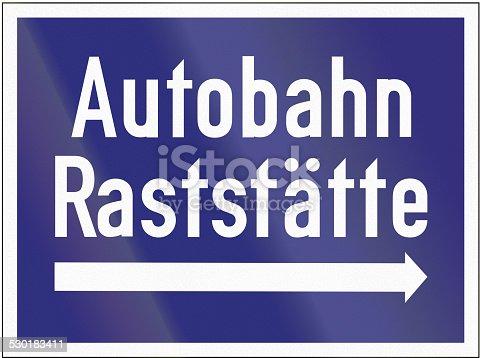 521911567 istock photo Autobahn Raststaette 530183411
