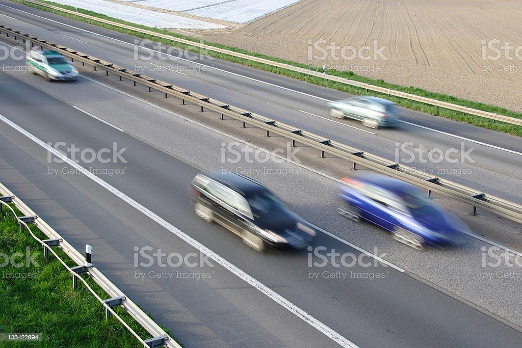 Autobahn speed royalty-free stock photo