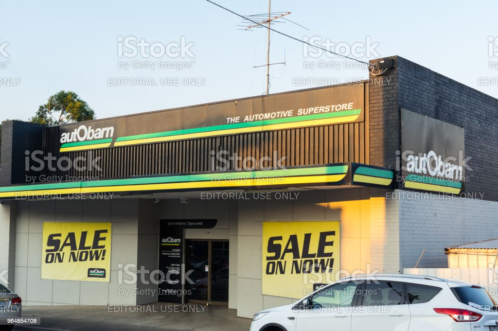 Autobarn store in Leongatha in South Gippsland in Australia royalty-free stock photo