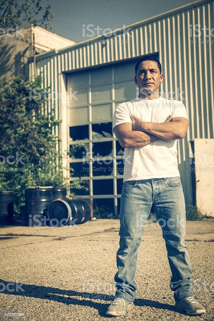 Autobody Garage Guy stock photo
