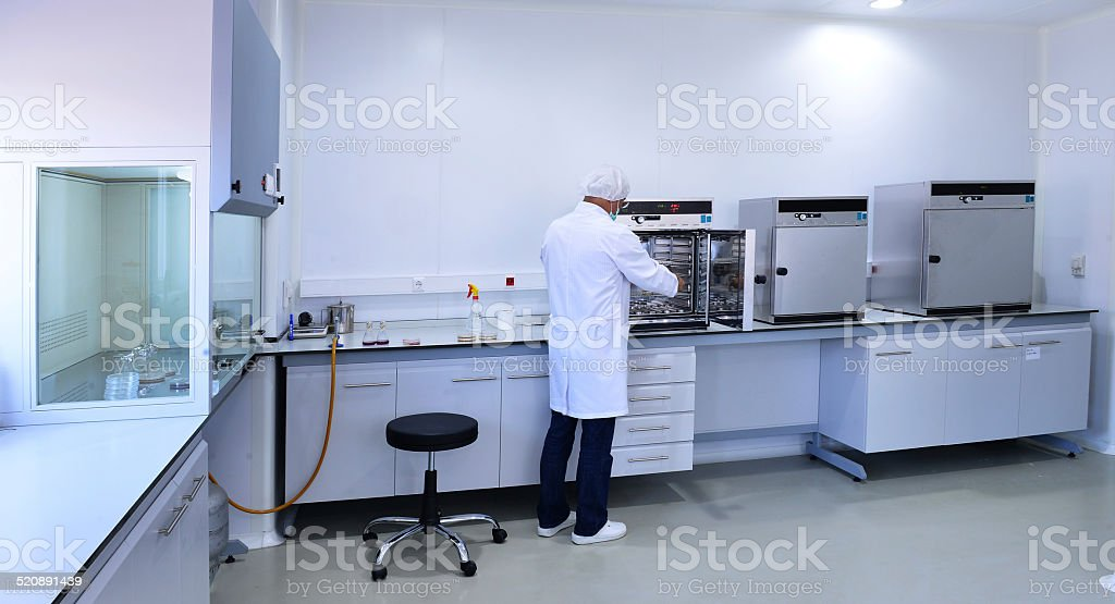 Autoclave and Anaerobic Incubators stock photo