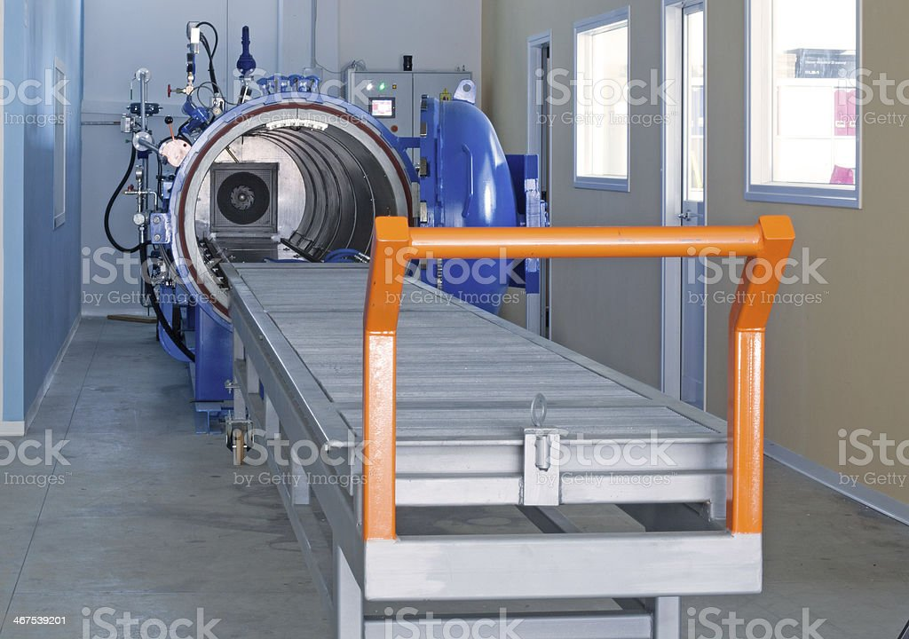 Autoclave equipment stock photo