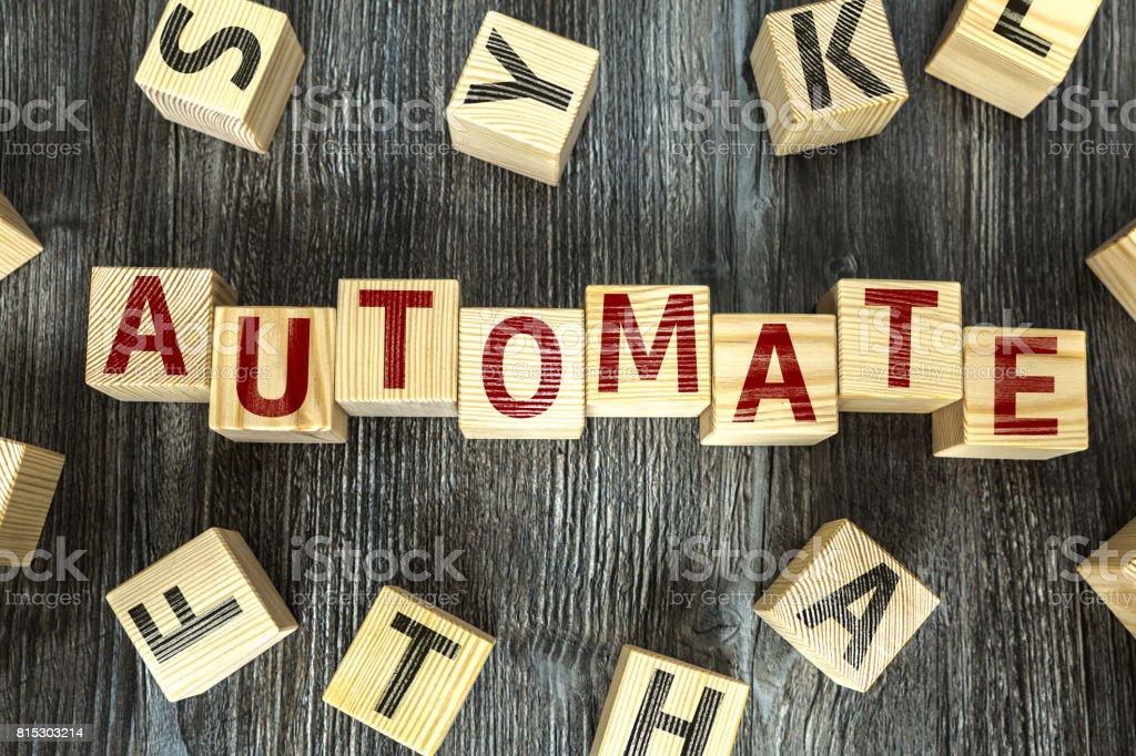 Automate stock photo