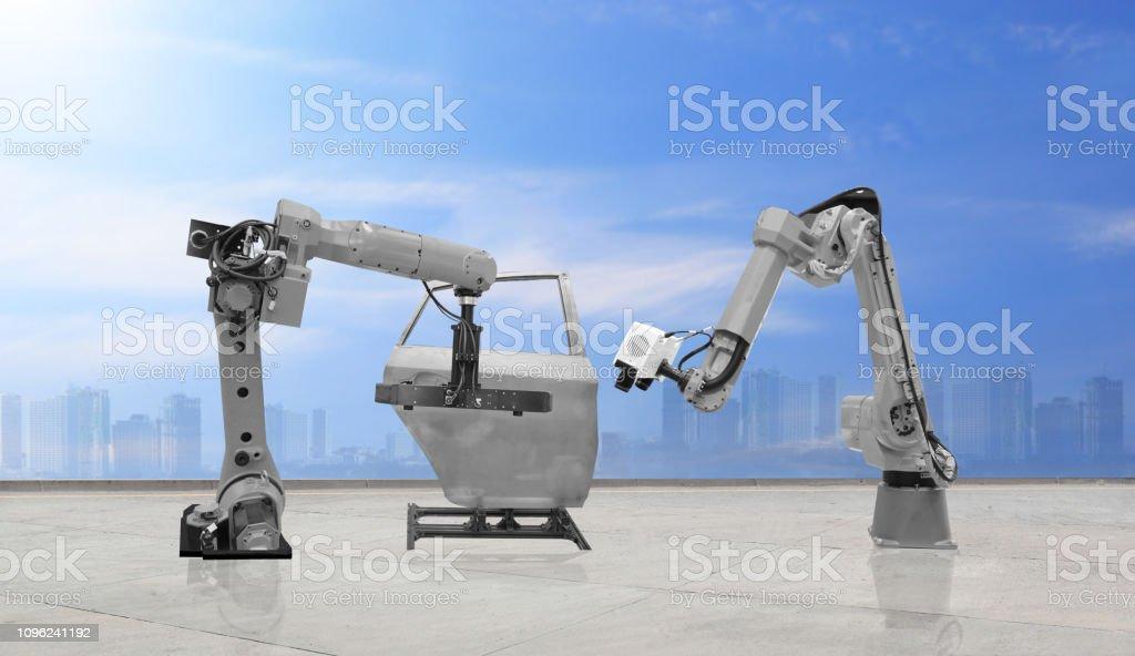 automate wireless Robot arm stock photo
