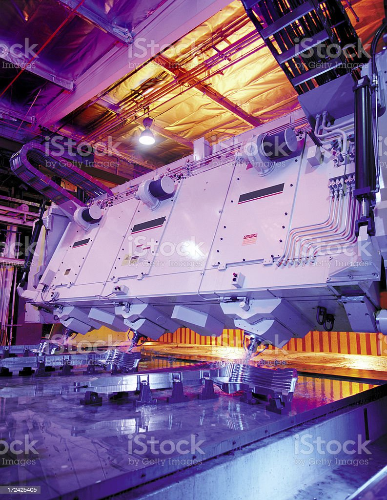 Automated Assembly Line Robot stock photo