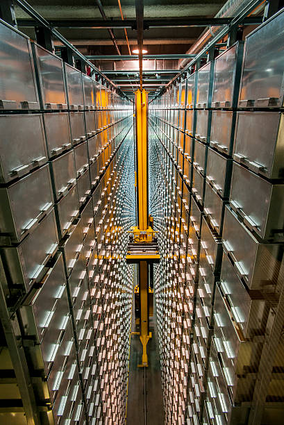 Automated Book Storage and Retrieval System stock photo