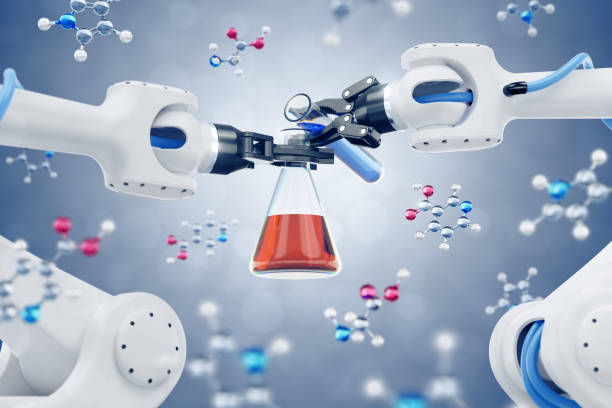 Automated Chemical Synthesis stock photo