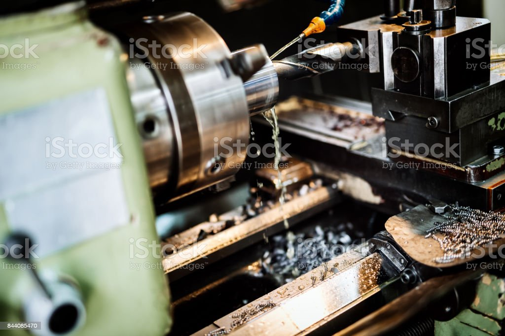 Automated drilling machines stock photo