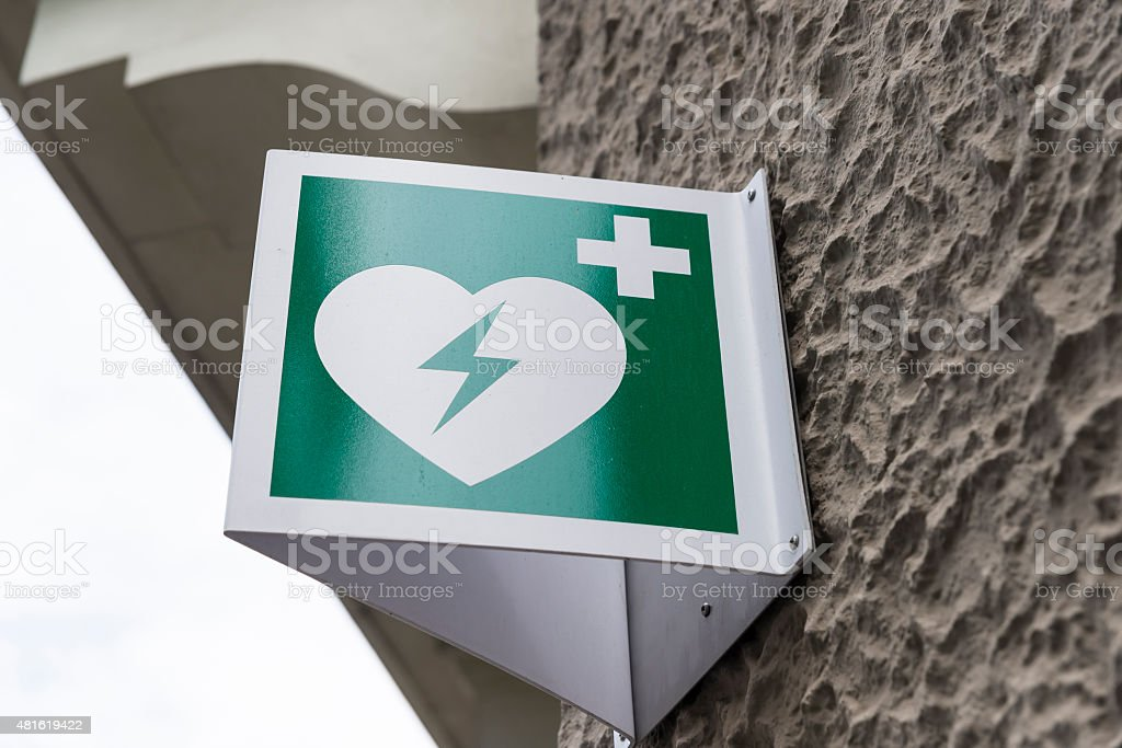 AED, Defibrillator, First Aid, Heart Shape, Emergency Sign