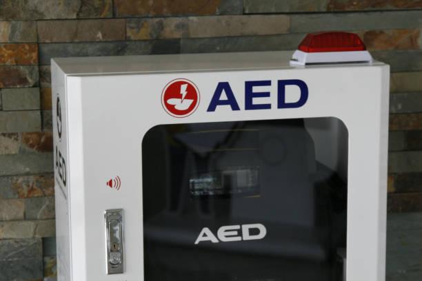 Automatische Externe Defibrillator draagbare elektronische levensredder foto