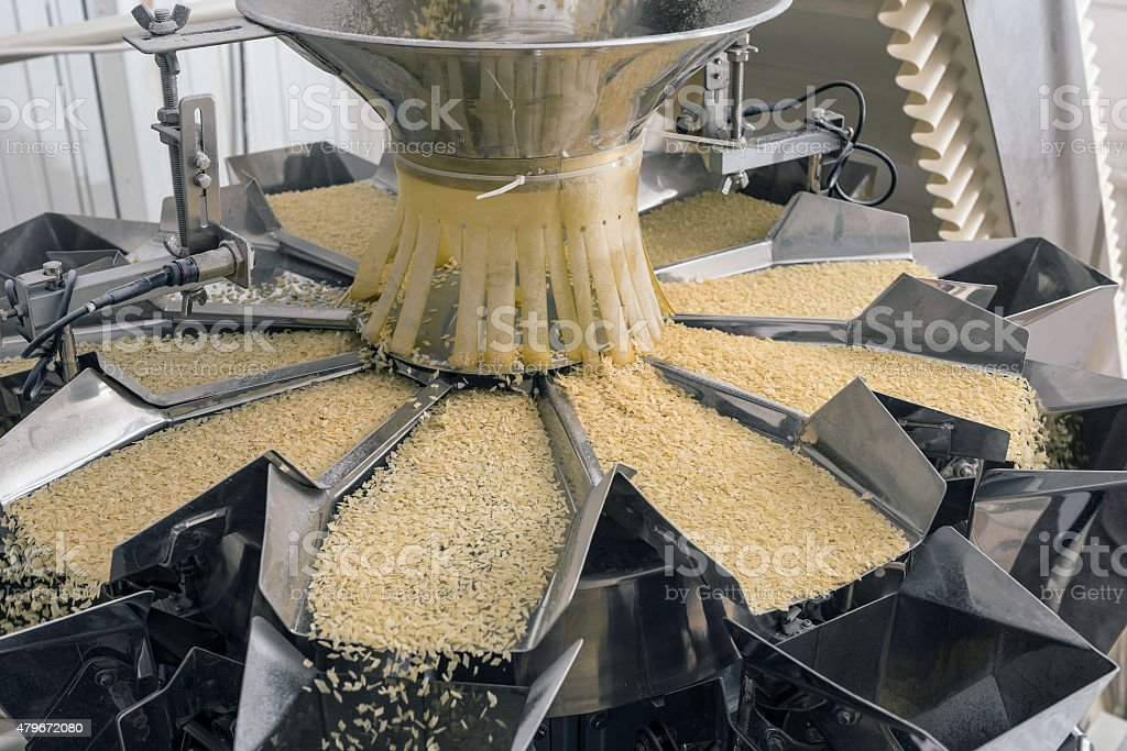 Automated food factory stock photo