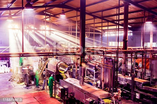 Food Processing, Crunchy, Snacks - Food Processing Plant in Production