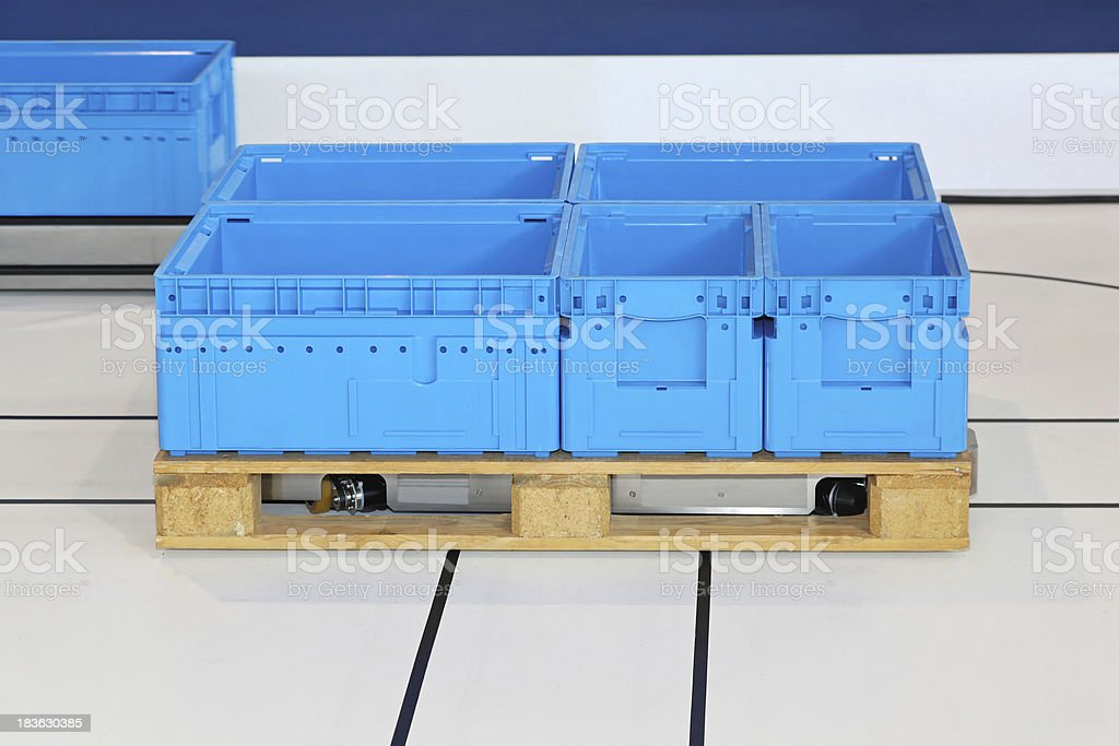 Automated guided pallet stock photo