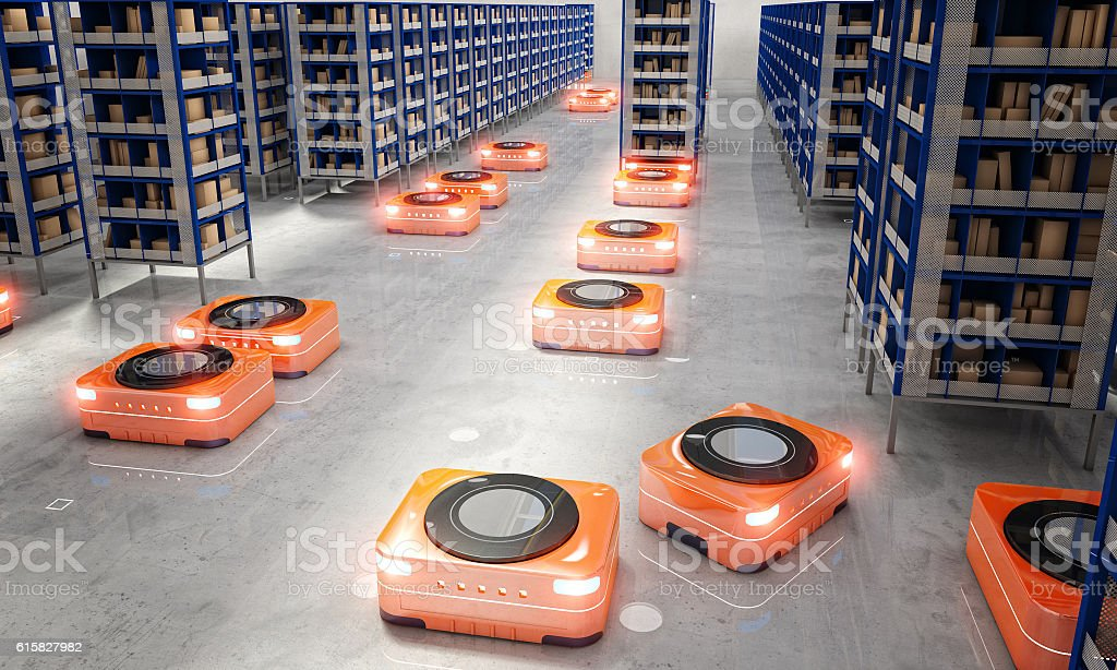 automated modern warehouse royalty-free stock photo