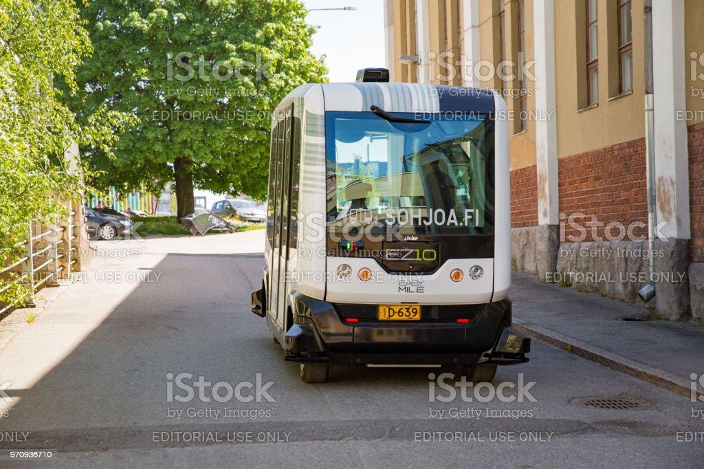 Automatisierte Test ferngesteuertes Bus in Helsink – Foto