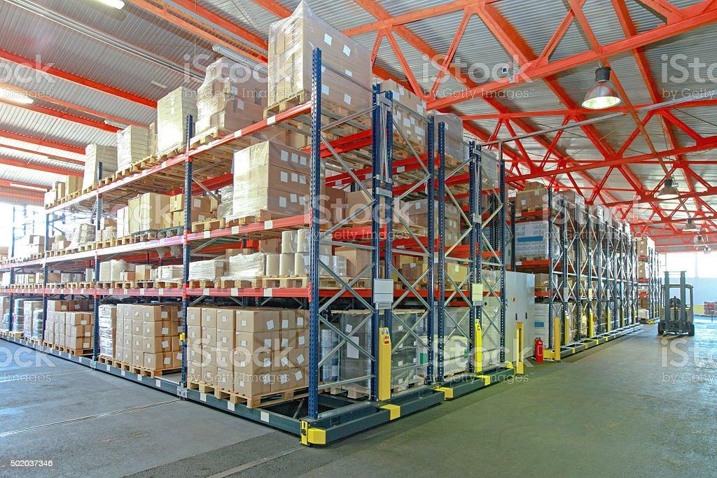 Empty Warehouse Showroom Stock Photo Empty Warehouse Interior Stock Photo  Automated Shelving Storage Stock Photo ...