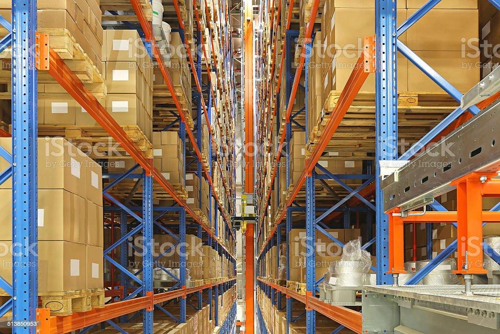 Automated storage and retrieval system stock photo