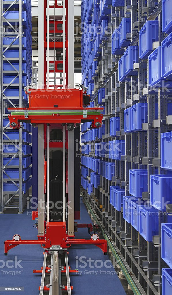 Automated storage robot stock photo