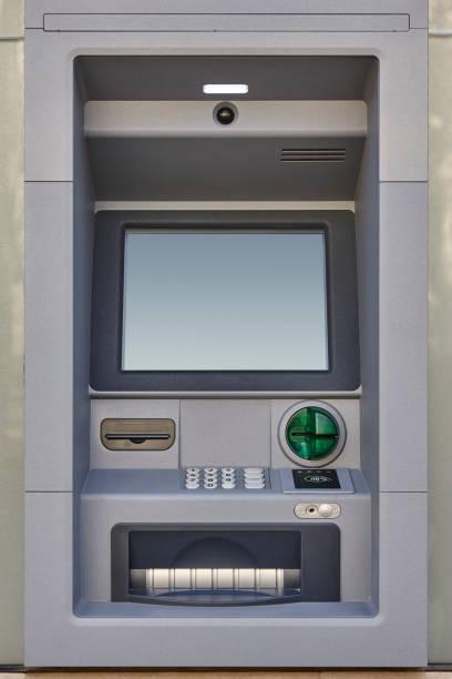 Geldautomat automatisierte Teller-Maschine. Bankdienstleistungen und Bargeld – Foto