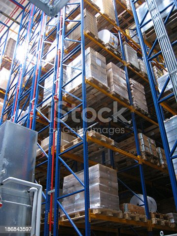 An automated warehouse.