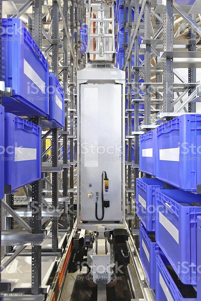 Automated warehouse storage stock photo