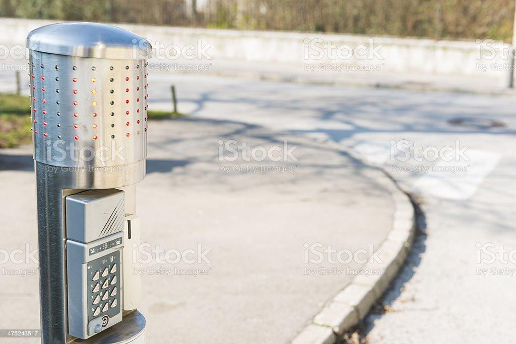Automatic Bollard Systems stock photo