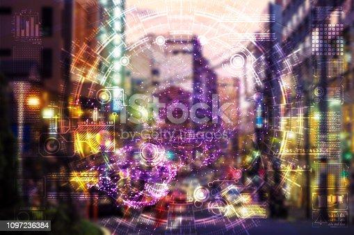 istock Automatic car city defocused new viaduct 1097236384