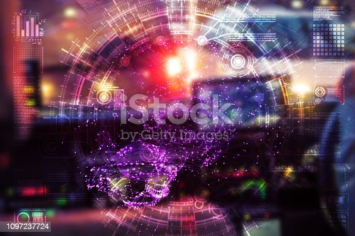 istock Automatic car city defocused new viaduct 1097237724