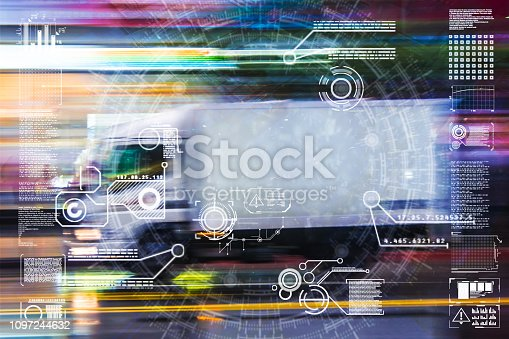 istock Automatic car city defocused new viaduct 1097244632