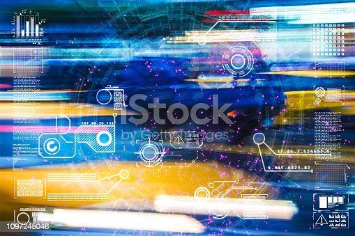 istock Automatic car city defocused new viaduct 1097245046