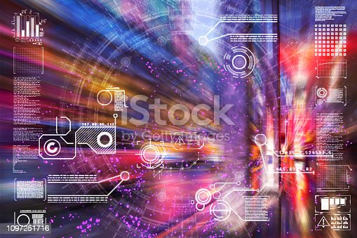istock Automatic car city defocused new viaduct 1097251716