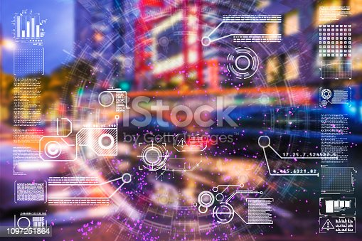 istock Automatic car city defocused new viaduct 1097251864