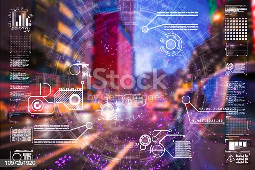 istock Automatic car city defocused new viaduct 1097251920