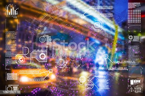 istock Automatic car city defocused new viaduct 1097252110