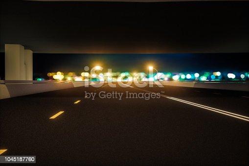1008204650 istock photo Automatic car city new viaduct tokyo defocused 1045187760