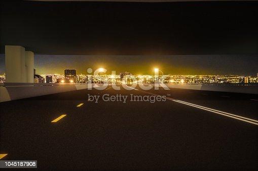 1008204650 istock photo Automatic car city new viaduct tokyo night 1045187908