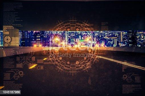 1008204650 istock photo Automatic car city new viaduct tokyo night 1045187986