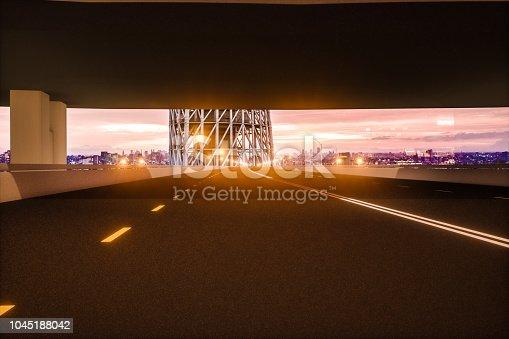 1008204650 istock photo Automatic car city new viaduct tokyo night 1045188042