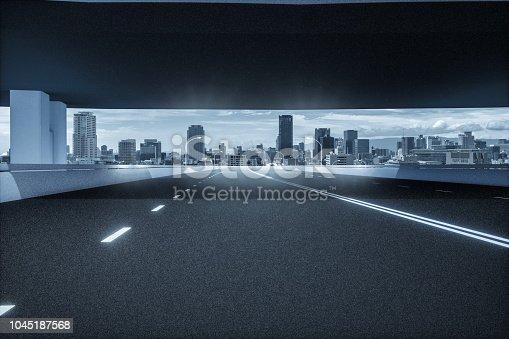 1008204650 istock photo Automatic car city new viaduct tokyo 1045187568