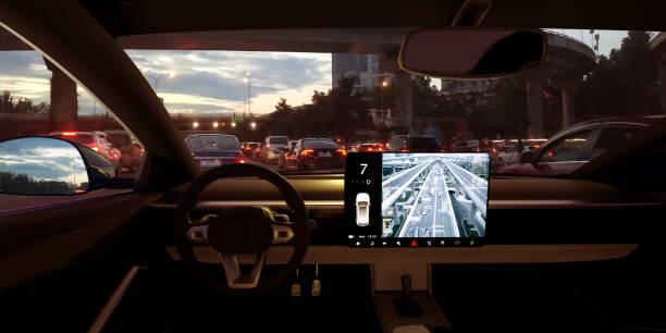 Automatische Auto bekommen Fang im Verkehr Stau – Foto