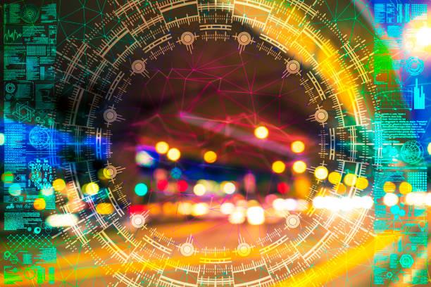 Automatische Geschwindigkeit in der Nacht – Foto