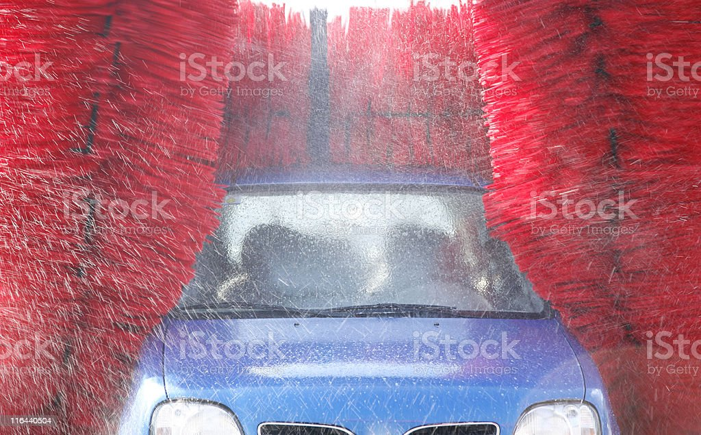 Automatic car wash stock photo