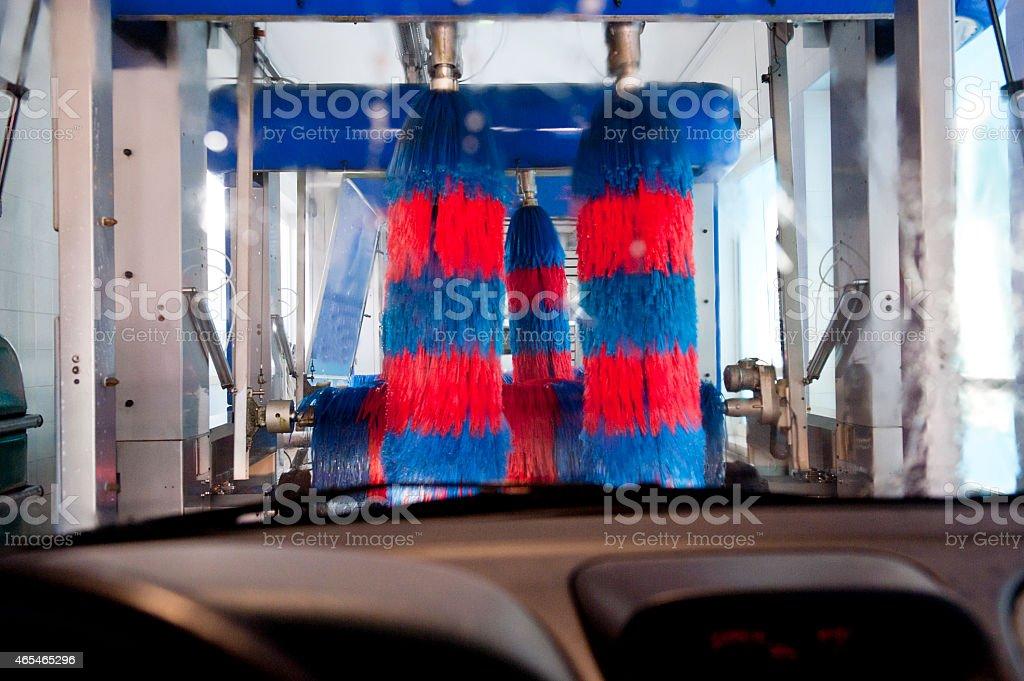 Automatic car wash stock photo