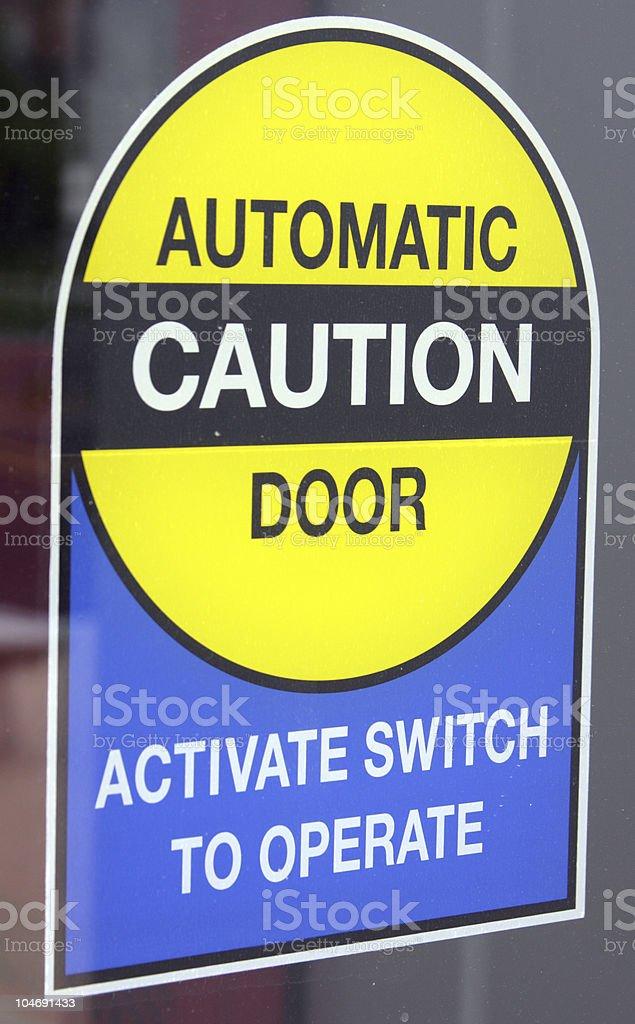 Automatic Door stock photo