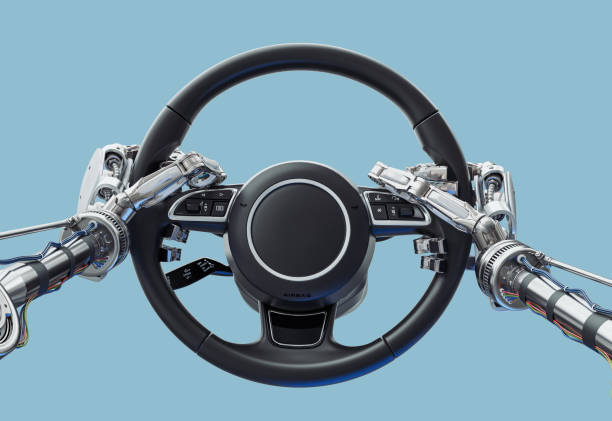 Automatic driving stock photo