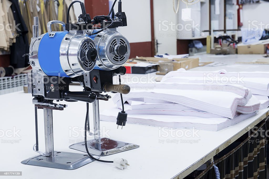 Automatic Dryer in Textile Factory stock photo