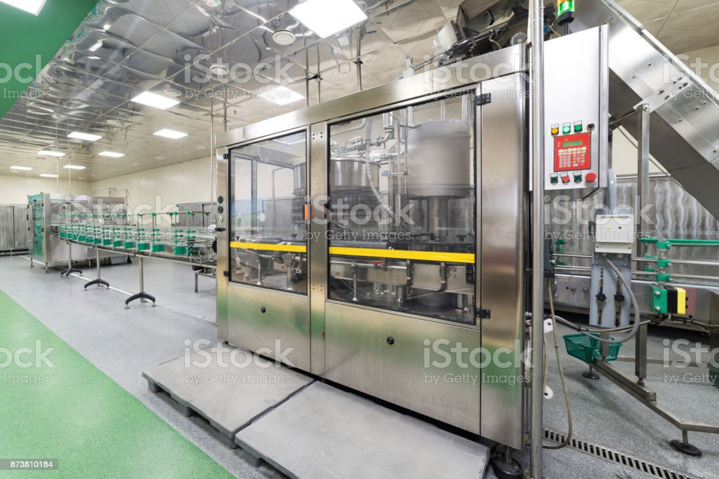 Automatic filling line. Factory for the production of alcoholic...
