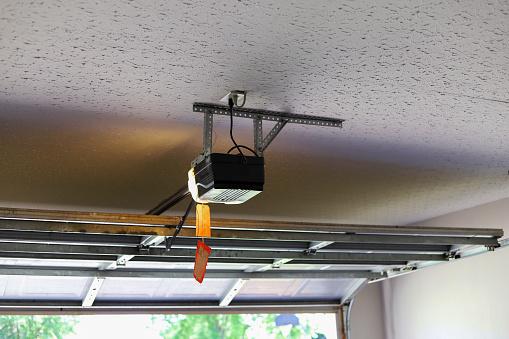 Automatic Garage Door Opener Motor on the Ceiling